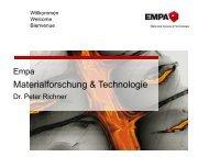 Vorstellung EMPA und NEST - Schweizerische Gesellschaft für Akustik