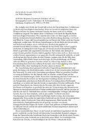 Zur Kritik der Gewalt (1920-1921?) von Walter Benjamin (in Walter ...
