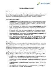 Merkblatt Rübenlogistik - Nordzucker AG