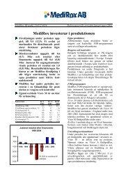 MediRox investerar i produktionen - AktieTorget