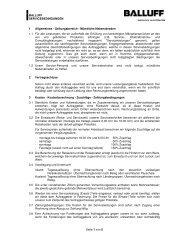 BALLUFF SERVICEBEDINGUNGEN Seite 1 von 5 1 Allgemeines ...