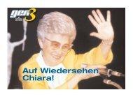 Auf Wiedersehen Chiara! Auf Wiedersehen Chiara! - Fokolar ...