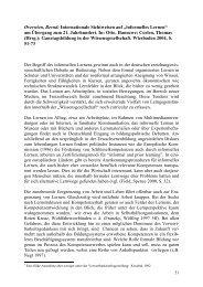 """Internationale Sichtweisen auf """"informelles Lernen"""" - exemplo"""