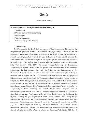 PDF herunterladen, ca. 420 KB - Prof. Dr. Horst-Peter Hesse