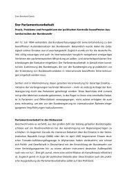 Der Parlamentsvorbehalt, Stand: 22.06.2007, Quelle: Reader Sipo
