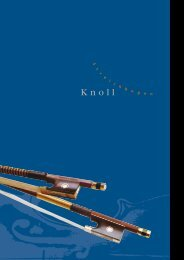 Katalog als PDF (2615 KB) - KNOLL Streichbogen