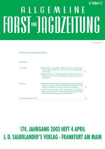 174. jahrgang 2003 heft 4 april jd sauerlander's verlag · frankfurt am ...