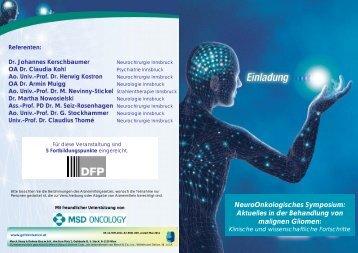 Einladung zum Neuroonkologie Symposium Innsbruck