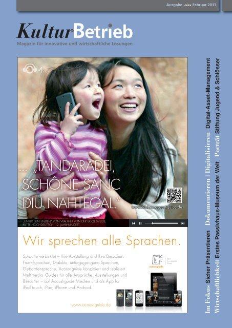 Ausgabe eins, Februar 2013 - KulturBetrieb