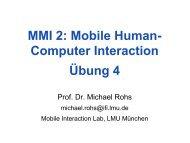 MMI 2: Mobile Human- Computer Interaction Übung 4