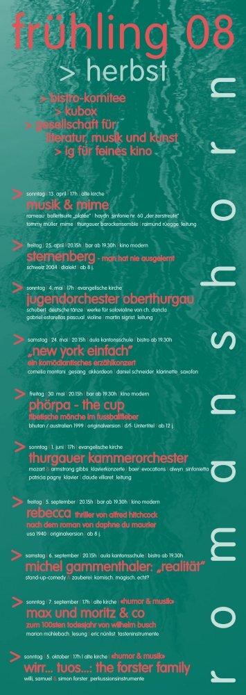 Programm Frühling 08 - GLM Romanshorn - veranstaltungen