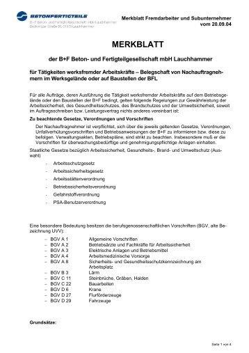 Merkblatt_werksfremde_Arbeitskräfte - B+F Beton- und ...