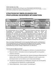 Zur Profilierung der Schulps.-Bib. - Schulpsychologie