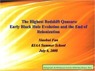 The Highest Redshift Quasars: Early Black Hole Evolution ... - KIAA