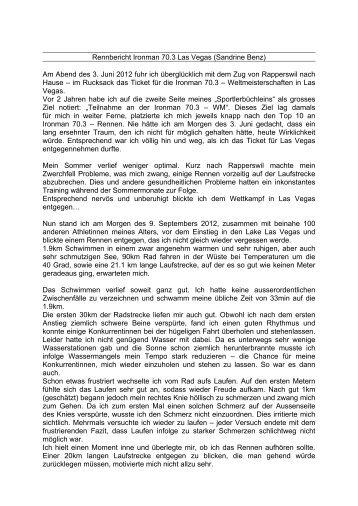 geht's zu ihrem Rennbericht - Toni Hasler GmbH