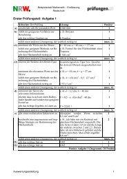 Auswertung Mathematik - Theodor-Heuss-Schule