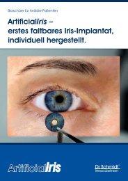 öffnen / speichern - Künstliche Iris - Irisdefekt