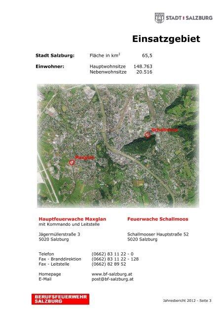 Jahresbericht 2012 - eBook - Berufsfeuerwehr Salzburg
