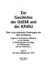 Zur Geschichte der UdSSR und der KPdSU - Reichtum und Verlust
