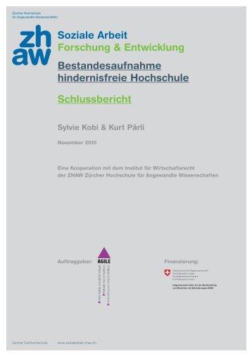 Bestandesaufnahme hindernisfreie Hochschule - Agile