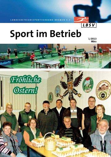 Verbandszeitschrift Sport im Betrieb - Ausgabe 2013/1