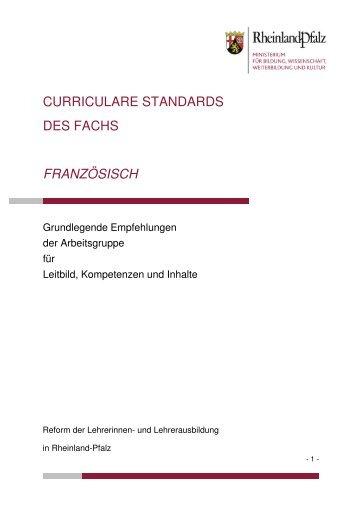 Französisch - Ministerium für Bildung, Wissenschaft, Jugend und ...