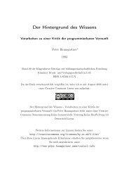 Der Hintergrund des Wissens - Peter Baumgartner