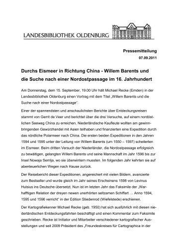 Durchs Eismeer in Richtung China - Willem Barents und die Suche ...