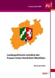 Landespolitische Leitsätze der Frauen-Union Nordrhein-Westfalen