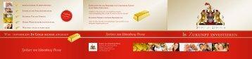 Unser Goldprospekt, alle Informationen für Sie zum Download, 500kb