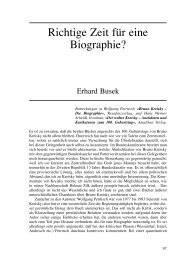 Richtige Zeit für eine Biographie? - Wolfgang Petritsch