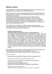 Mädchenprojekt- Zuordnung Berufsorientierung - Hauptschule Bad ...