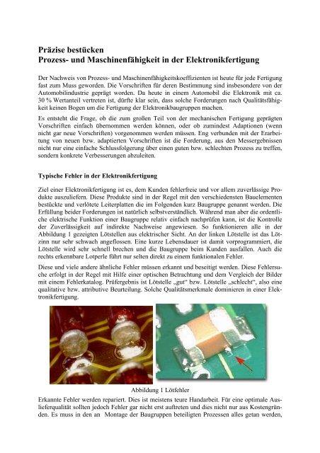 Präzise bestücken Prozess- und Maschinenfähigkeit ... - QZ-online.de