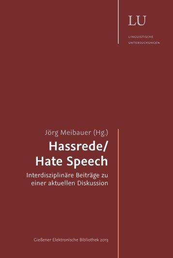 Hassrede/ Hate Speech - Allgemeine Linguistik