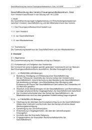 Geschäftsordnung - Frauengesundheitszentrum Graz