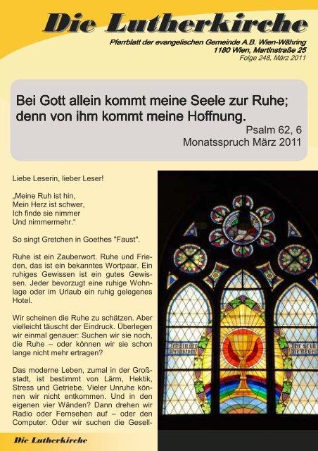 Zeitung 2011-1 - Währing & Hernals Lutherkirche Wien - Währing ...