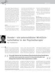 Gender - ein unterschätzter Wirk(lichkeits) - Frauen beraten Frauen
