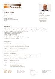 Profil als PDF - Hössle Patentanwälte