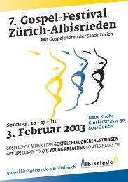 7. Gospel-Festival Zürich-Albisrieden - gospel.kirchgemeinde ...