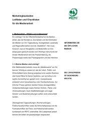 PEFC-Leitfaden Medienarbeit