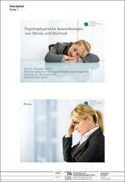 Psychophysische Auswirkungen von Stress und ... - Szondi-Institut