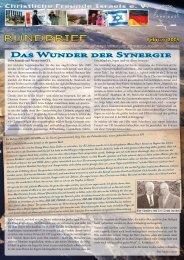 2009 Februar Das Wunder der Synergie - Christliche Freunde Israels