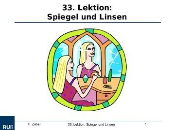 Spiegel und Linsen
