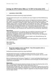 Anträge der SPD-Fraktion Berlin-Mitte im Dezember 2012