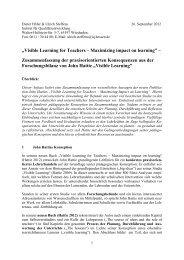 Zusammenfassung der praxisorientierten ... - Visible Learning