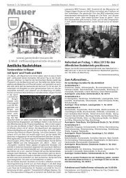 Amtliche Nachrichten - Gemeinde Mauer
