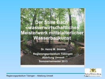 Der Stille Bach - wasserwirtschaftliches ... - Seenprogramm