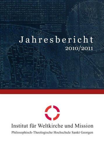 IWM Jahresbericht 2011 - IWM - Philosophisch-Theologische ...