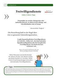 Rubrik Freiwilligendienste - Stubenhocker - Die Zeitung für ...