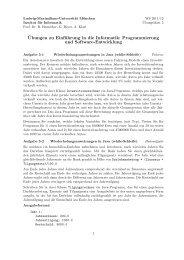 ¨Ubungen zu Einführung in die Informatik: Programmierung und ...